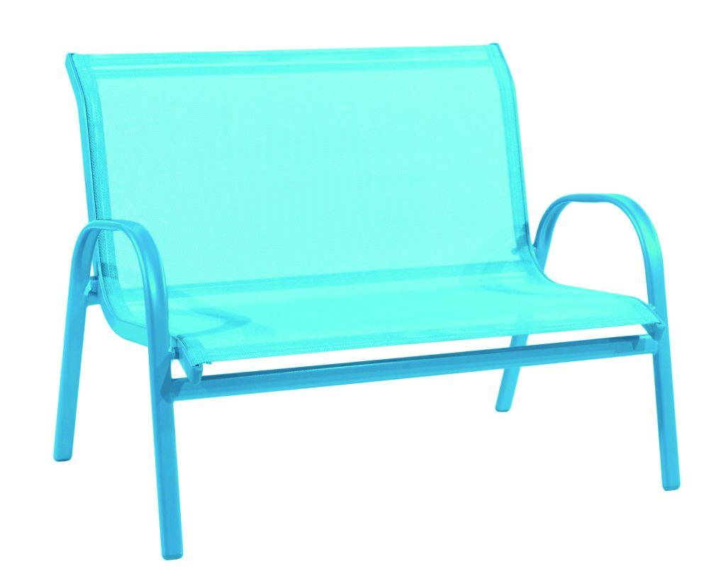 Gartenmobel Set Kunststoff Blau : KINDERBANK TEXTILEN TÜRKIS