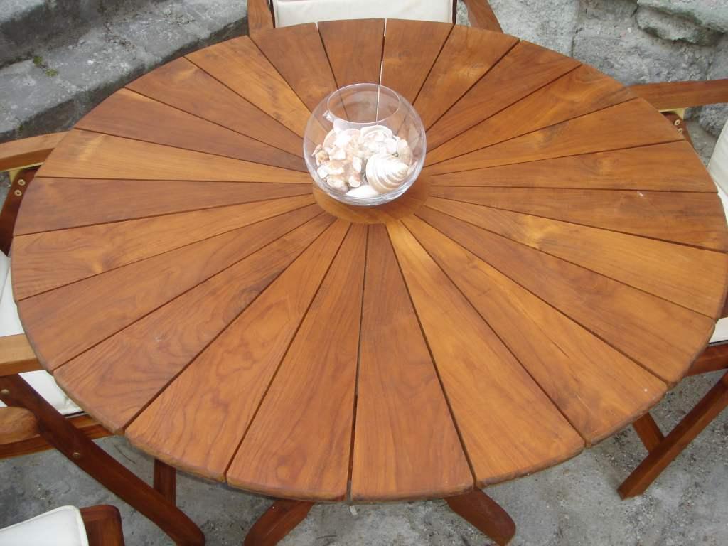 Gartenmobel Tisch Holz : Sun Elegance Teakholz Tisch, rund, 160 cm