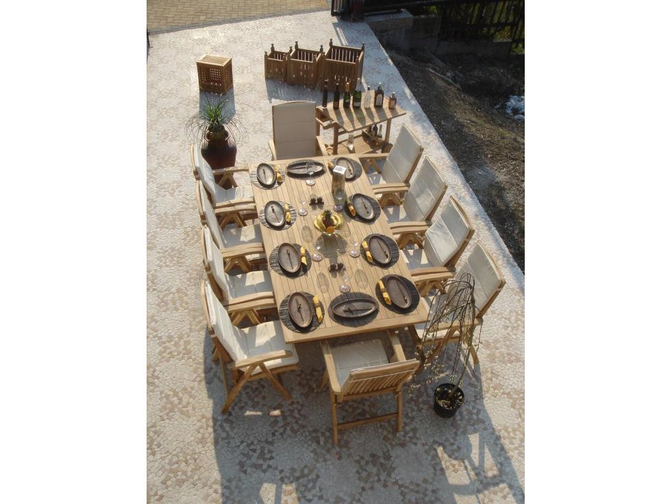 Royal Teakholz Tisch 120x120 180 Cm