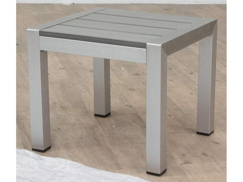 Gartenmobel Tisch Grob : Orosei Beistelltisch Alu naturgraubraun 40 x 40 x 35 cm