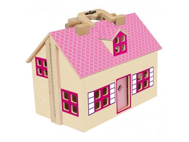 Woody Puppenhaus aus Holz, klappbar